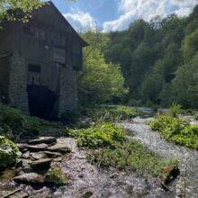 Tartak wodny na rzece Wisłok Besko