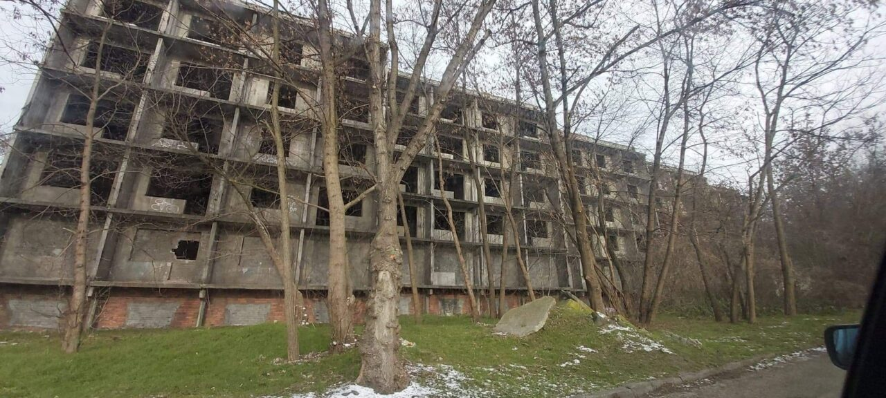 Opuszczone bloki mieszkalne Gliwice