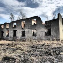 Pozostałości dawnego kompleksu budynków Gliwice